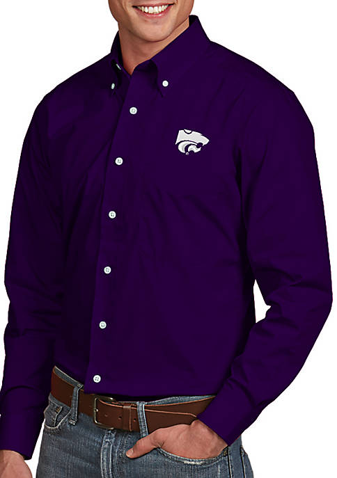 Antigua® Kansas State Wildcats Dynasty Woven Shirt