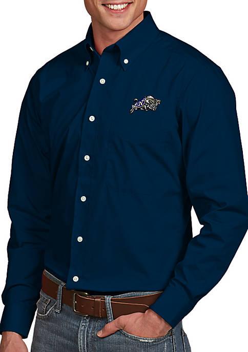 Antigua® Navy Midshipmen Dynasty Woven Shirt
