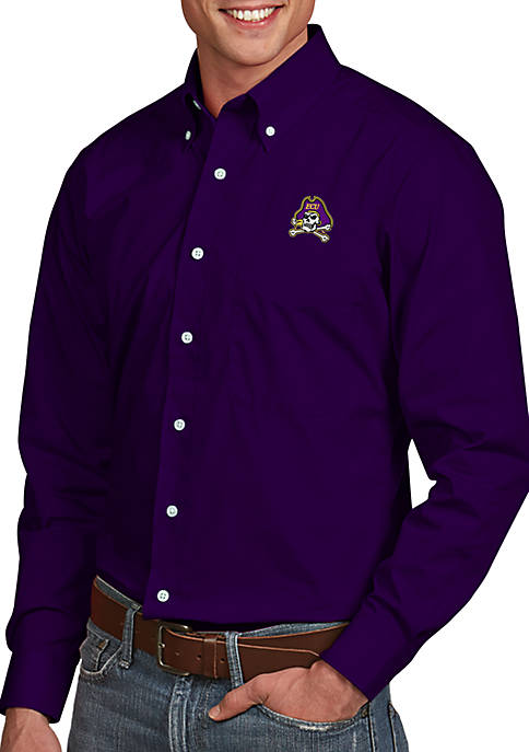 Antigua® East Carolina Pirates Dynasty Woven Shirt