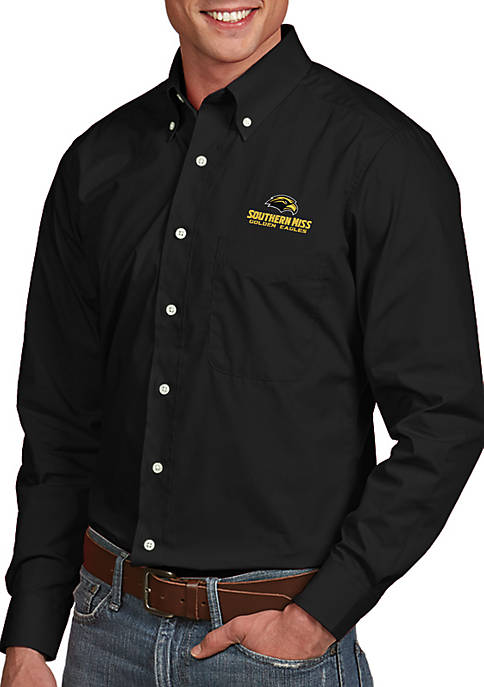 Antigua® Southern Mississippi Golden Eagles Dynasty Woven Shirt