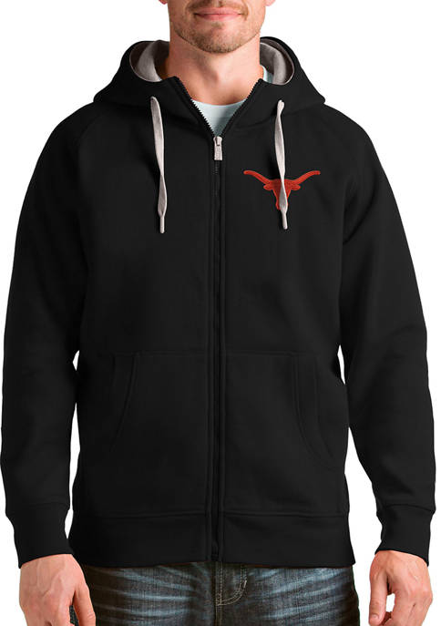 Antigua® Mens NCAA Texas Longhorns Victory Full Zip
