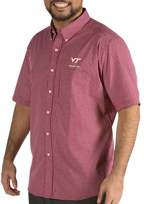 Antigua® Virginia Tech Hokies Short Sleeve Button Down