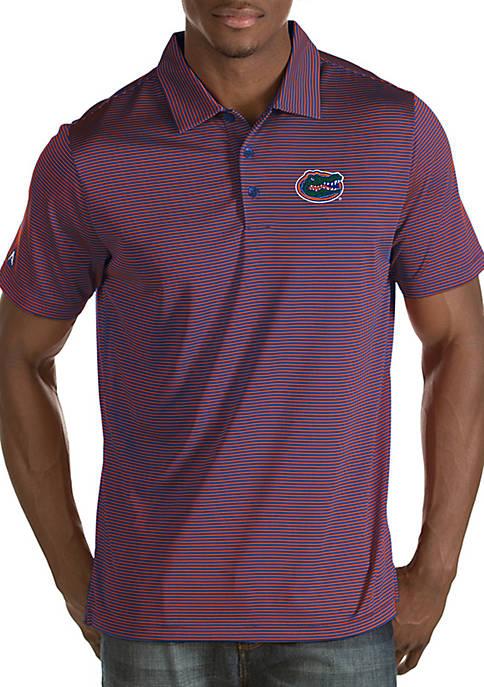Antigua® Florida Gators Quest Short Sleeve Polo
