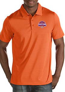 Antigua® Clemson Tigers National Champ 18 Quest Polo T Shirt