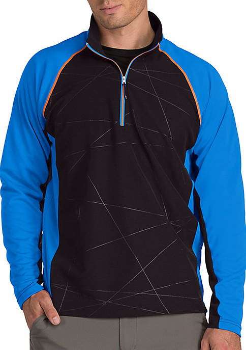 Antigua® Long Raglan Sleeve Thunder Quarter ZIp Pullover