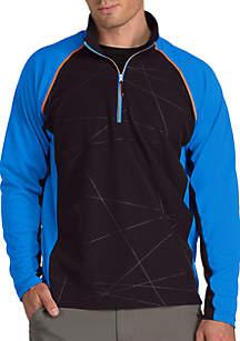 Long Raglan Sleeve Thunder Quarter ZIp Pullover