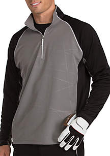 Antigua® Long Raglan Sleeve Thunder Quarter ZIp Pullover