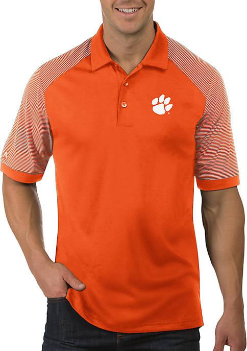 Antigua® Clemson Tigers Engage Short Sleeve Polo