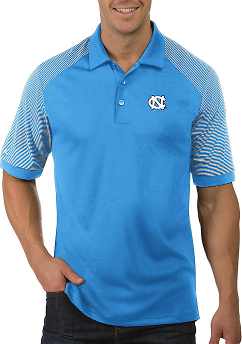 Antigua® UNC Tar Heels Engage Short Sleeve Polo