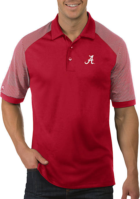 Antigua® Alabama Crimson Tide Engage Short Sleeve Polo