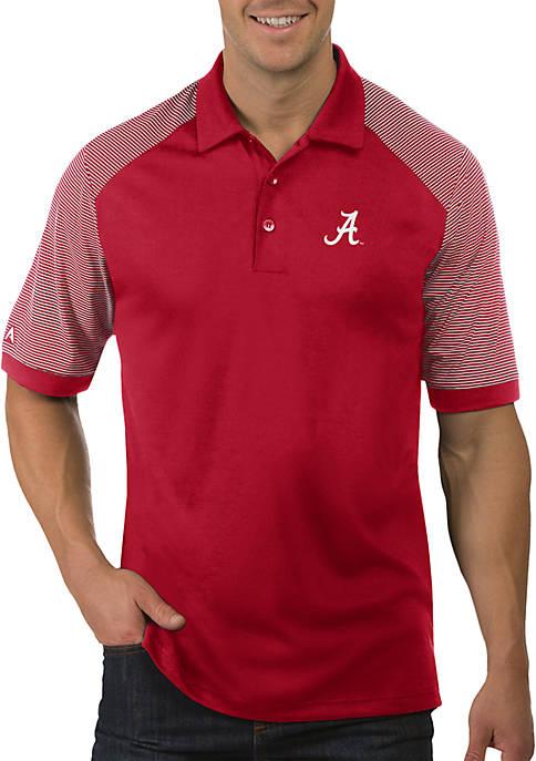 Antigua® Alabama Crimson Tide Engage Short Sleeve Polo