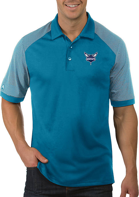 Antigua® NBA Charlotte Hornets Engage Short Sleeve Polo