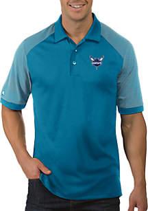 Antigua® NBA Charlotte Hornets Engage Short Sleeve Polo