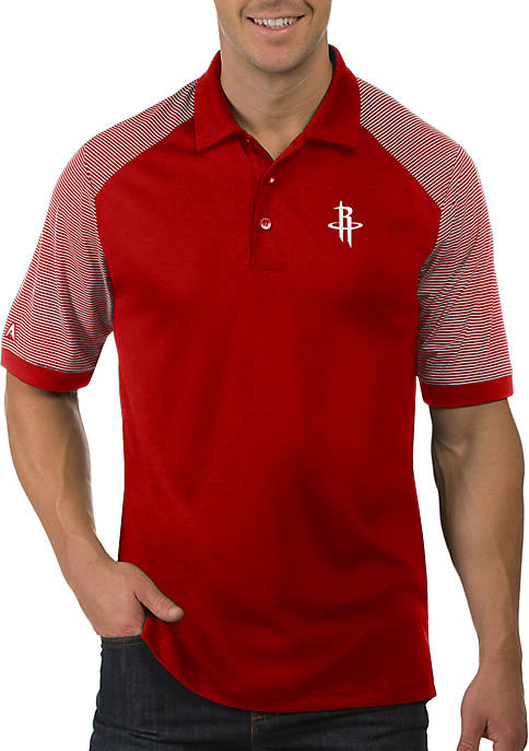 Antigua® NBA Houston Rockets Engage Short Sleeve Polo