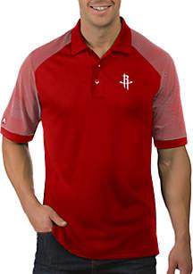 Antigua® NBA Houston Rockets Engage Short Sleeve Polo