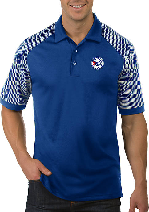 Antigua® NBA Philadelphia 76ers Engage Short Sleeve Polo