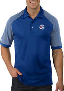 Antigua® NBA Philadelphia 76ers Engage Short Sleeve Polo