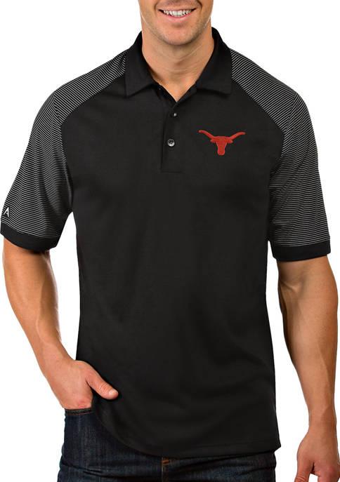 Antigua® Mens NCAA Texas Longhorns Engage Polo