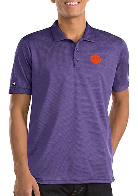 Antigua® Short Sleeve Clemson Clutch Polo