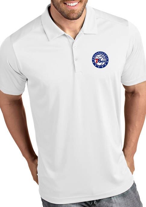Antigua® NBA Philadelphia 76ers Mens Tribute Polo Shirt