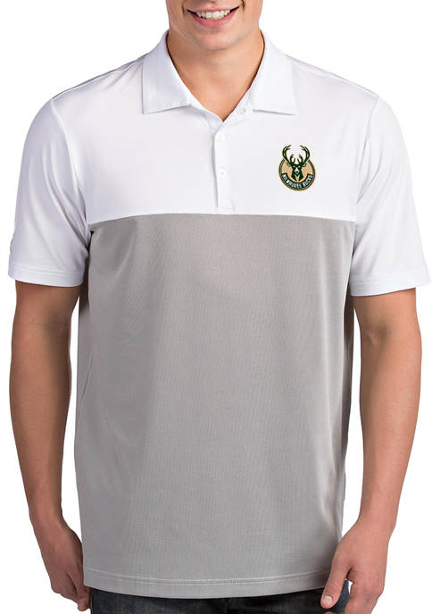 Antigua® NBA Milwaukee Bucks Mens Venture Polo