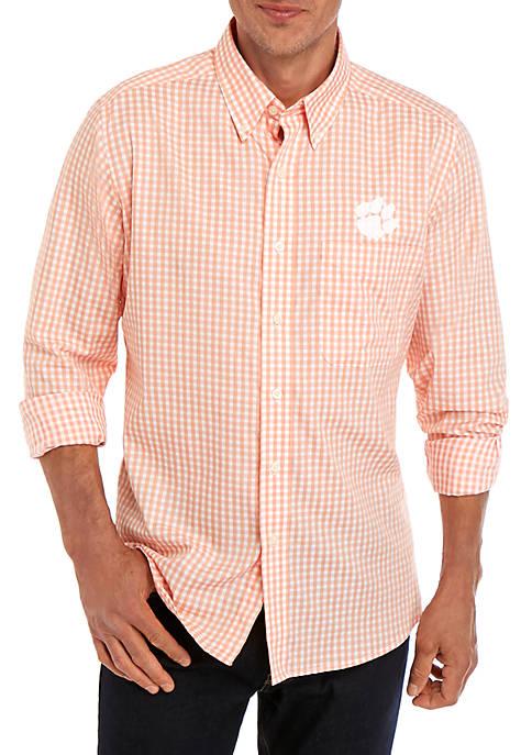 Antigua® Clemson Structure Woven Shirt