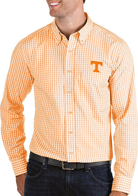 Antigua® Tennessee Volunteers Structured Woven Button Down Shirt