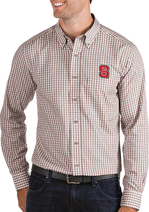 NC State Wolfpack Structured Woven Button Down Shirt