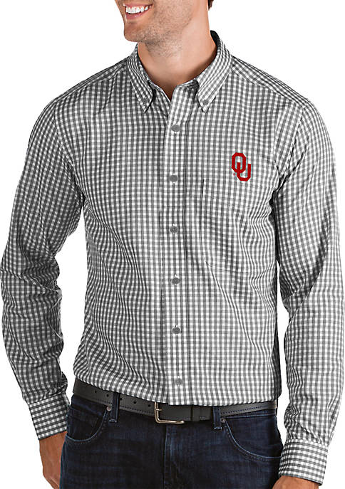Oklahoma Sooners Structured Woven Button Down Shirt