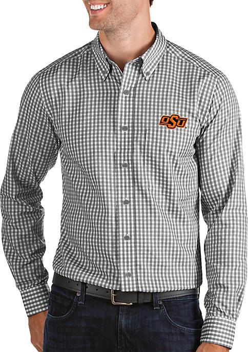 Antigua® Oklahoma State Cowboys Woven Button Down Shirt