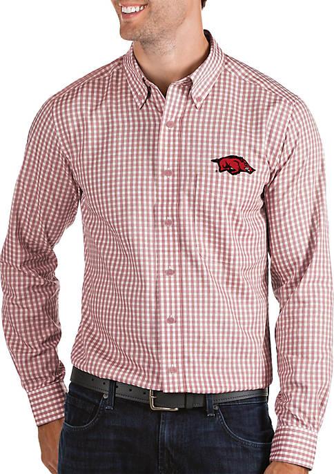 Antigua® Arkansas Razorbacks Woven Button Down Shirt
