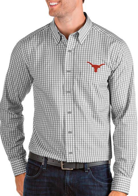 Antigua® Mens NCAA Texas Longhorns Structure Shirt