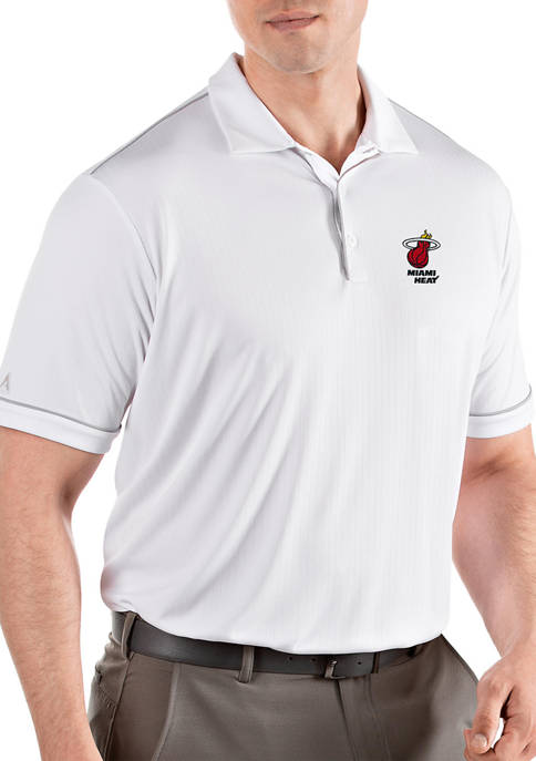 Antigua® NBA Miami Heat Mens Salute Polo Shirt