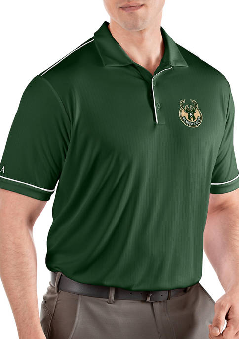 Antigua® NBA Milwaukee Bucks Mens Salute Polo Shirt