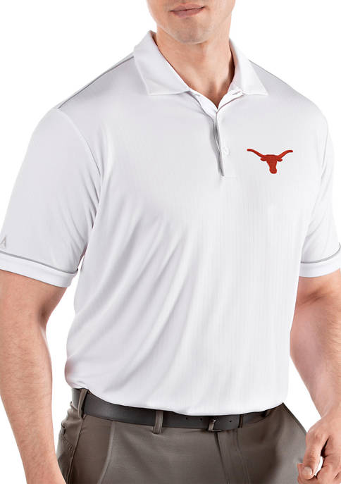 Antigua® Mens NCAA Texas Longhorns Salute Polo