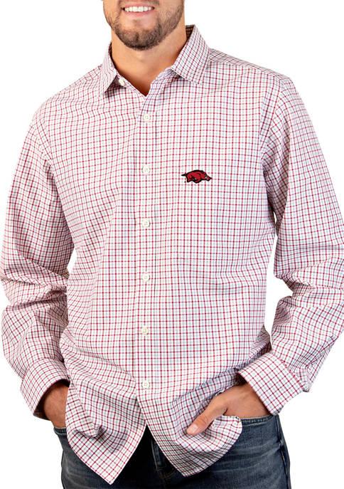 NCAA Arkansas Razorbacks Tailgate Woven Shirt
