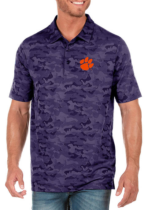 Antigua® NCAA Clemson Tigers Short Sleeve Collared Shirt