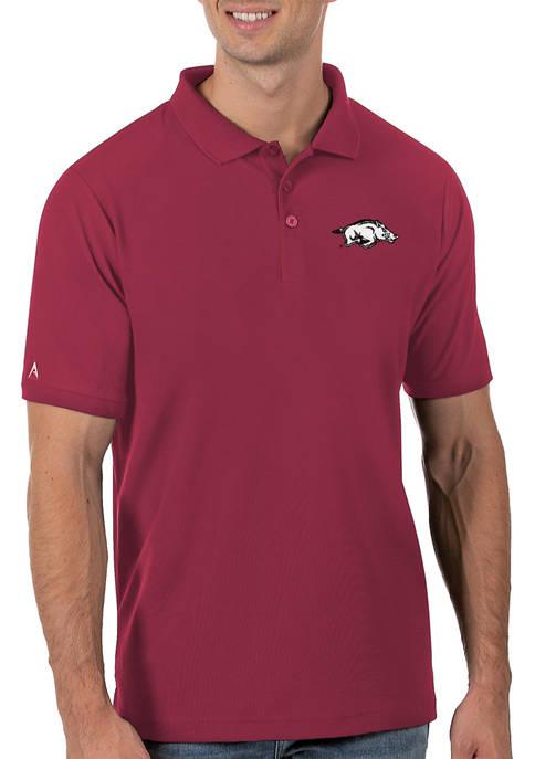 Mens NCAA Arkansas Razorbacks Legacy Piqué Polo Shirt