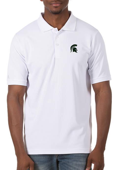 Mens NCAA Michigan State Spartans  Legacy Piqué Polo Shirt