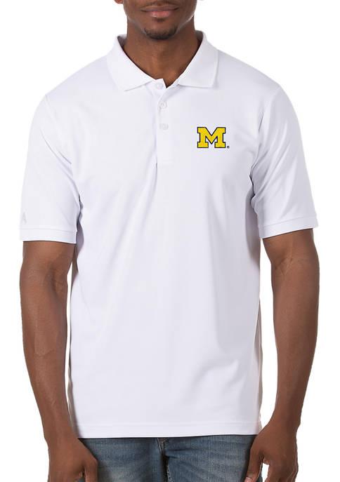 Antigua® Mens NCAA Michigan Wolverines Legacy Piqué Polo