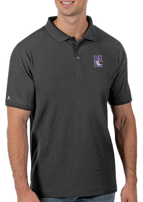 Antigua® Mens NCAA Northwestern Wildcats Legacy Piqué Polo