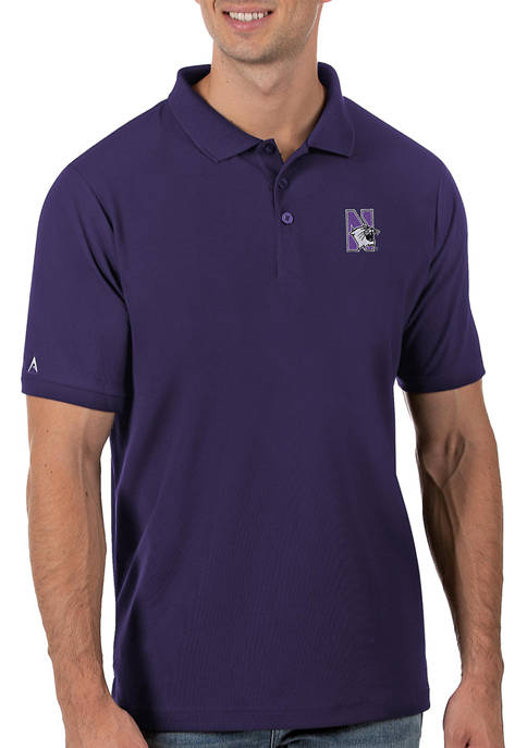 Mens NCAA Northwestern Wildcats Legacy Piqué Polo Shirt