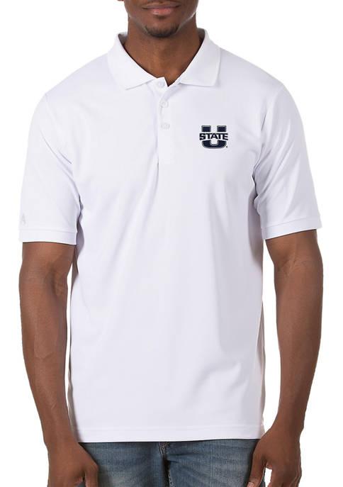 Mens NCAA Utah State Aggies Legacy Piqué Polo