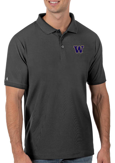 Mens NCAA Washington Huskies Legacy Piqué Polo