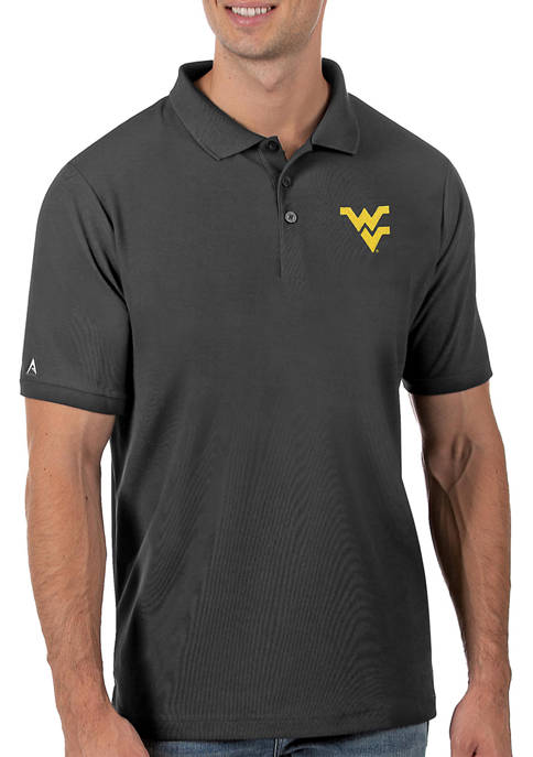 Mens NCAA West Virginia Mountaineers Legacy Piqué Polo