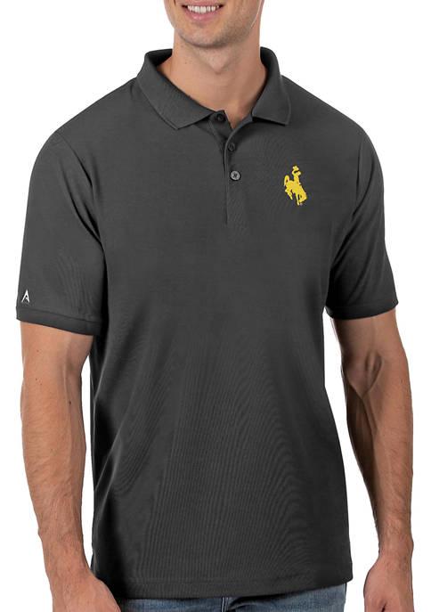Mens NCAA Wyoming Cowboys Legacy Piqué Polo
