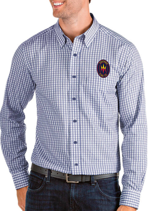 Antigua® Mens MLS Chicago Fire Structure Shirt