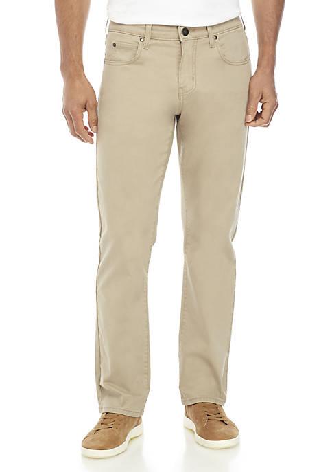 Straight Leg Khaki Pants