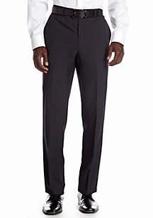 Slim Fit Navy Stripe Flat Front Suit Separate Pants
