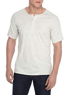 Short Sleeve Solid Henley T-Shirt